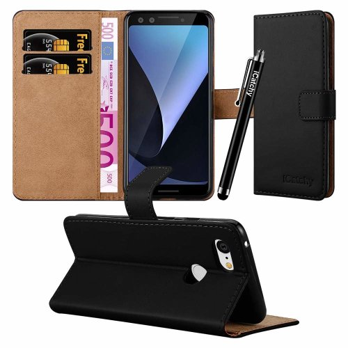 For Google Pixel 3 Leather Wallet Flip Case Cover