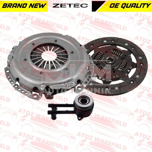 FOR FORD FIESTA FOCUS MONDEO C-MAX 1.6 ZETEC CLUTCH KIT + CSC CYLINDER BEARING