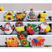 Chrismas Tree Snowman Elk Fridge Magnets Gift for Kids 11 PCS