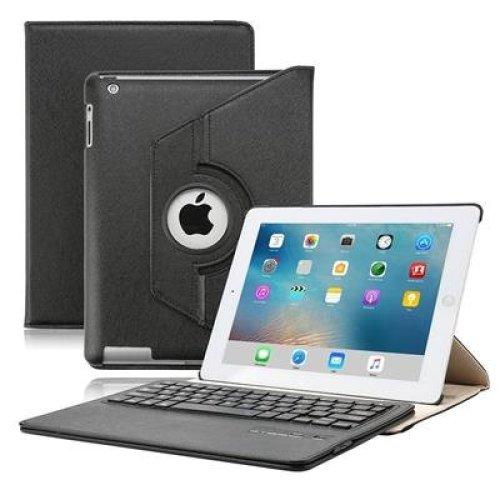 KVAGO Elegant Luxury Stylish iPad 2 3 4 Keyboard Case with 360 Rotating Stand + Screen Protector