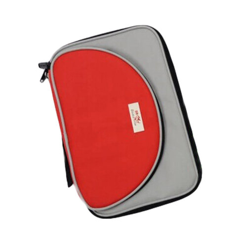 Cool Oblong Table Tennis Racket Cover Ping Pong Bat Bag Red/Gray