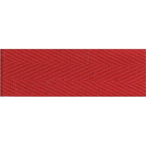 """Products From Abroad 100% Cotton Twill Tape 1.125""""X55yd-Red"""