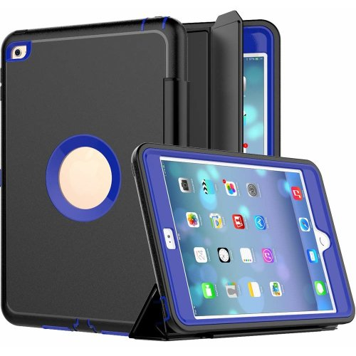buy online 6b314 49793 iPad Mini 4 Case, SEYMAC Three Layer Drop Protection Rugged Protective  Heavy Duty iPad Case with Magnetic Smart Auto Wake/Sleep Cover for iPad  Mini...