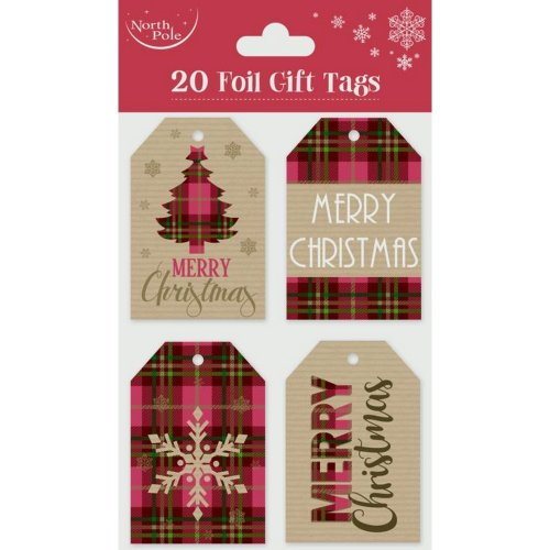 Eurowrap Christmas Gift Tags (Pack of 20)