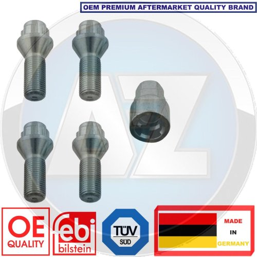 for BMW CITROEN FIAT PEUGEOT RENAULT VOLVO LOCKING SECURITY WHEEL BOLTS NUTS SET