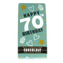 Chocolate Bar - Happy 70th Birthday