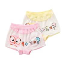2PCS, Cute Cartoon Bird Underwear Girls' Comfortable Panties