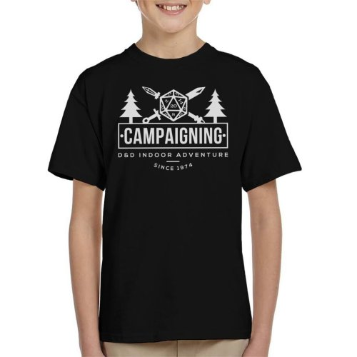 Campaigning Dungeons And Dragons Indoor Adventure Kid's T-Shirt