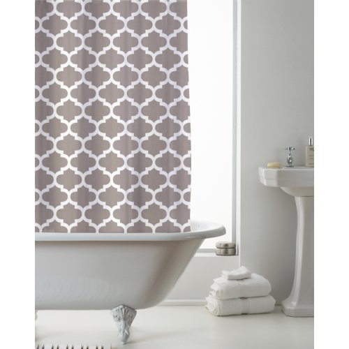 Country Club Shower Curtain Moroccan Mink 180 x 180cm