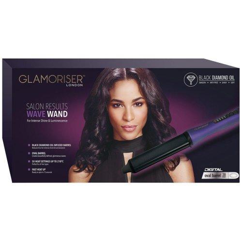 Glamoriser Salon Results Professional Wave Wand Women's Hair Styler Curling Tong