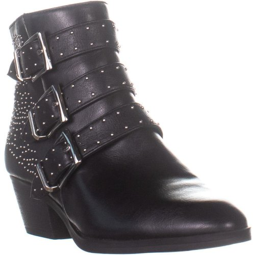 Indigo Rd. Bonitan2 Peep-Toe Mule Pump Heels, Black, 5 UK