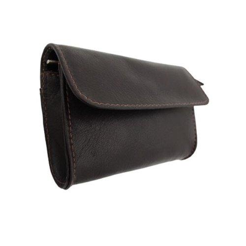 Piel 9338-CHC Chocolate Coin- Credit Card Purse