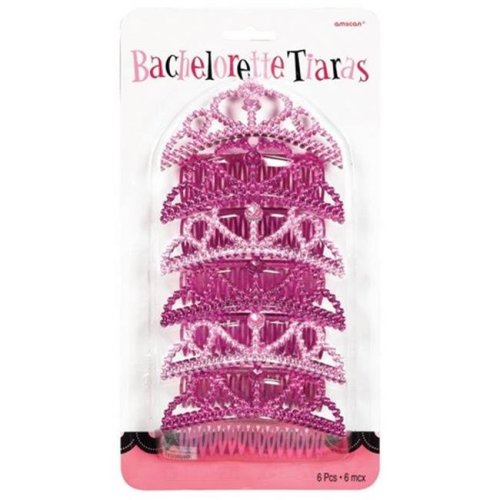 Amscan 399100 Team Bride Mini Tiaras - Pack of 36