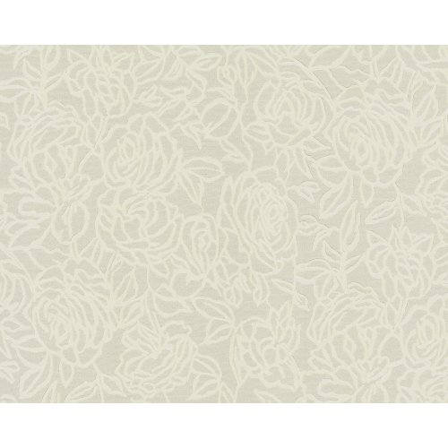EDEM 9040-20 Flowers wallcovering wall shiny cream white 10.65 sqm