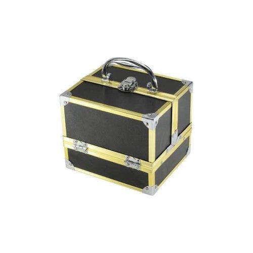 TZ Case AB-14 GBD Compact Makeup Case, Gold Black Dot