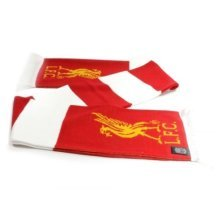 Liverpool Bar Scarf -  liverpool scarf official red white fan game football bar fc striped team match scarves lfc licensed product gift club logo