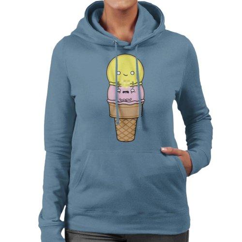 Two Balls Rude Ice Cream Women's Hooded Sweatshirt