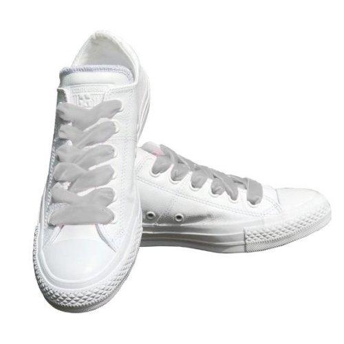 Grey Velvet Ribbon Shoelaces Ideal For Converse Vans