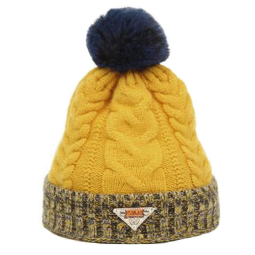 Cute Infant Baby Hat Warm Children Beanie Cap for Winter / Fall, Yellow