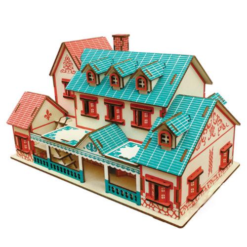 Jigsaw Woodcraft Kit Puzzle Architecture DIY Toys Educational Toys #3