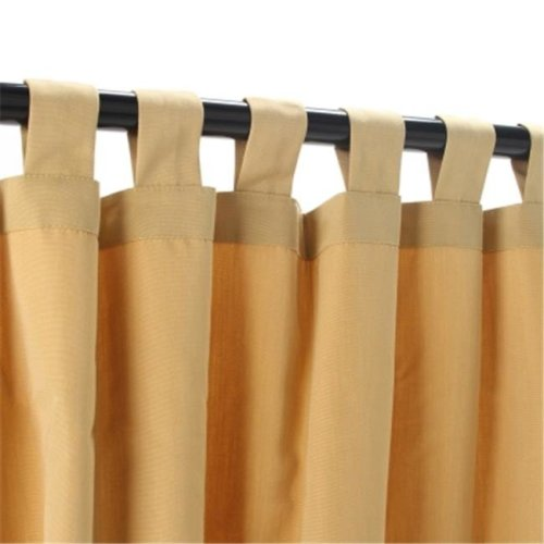 Outdoor Curtains CUR108WHS 54 in. x 108 in.Sunbrella Outdoor Curtain with Tabs - Wheat