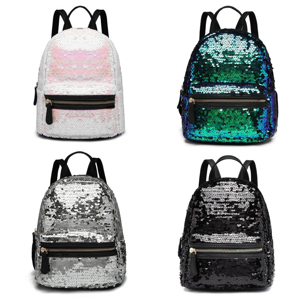 fec2ffc44 Miss Lulu Sequins Backpack Women Small Rucksack Girls School Bag on OnBuy