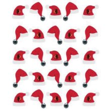 Jolee's Cabochon Dimensional Repeat Stickers-Santa Hat Repeats