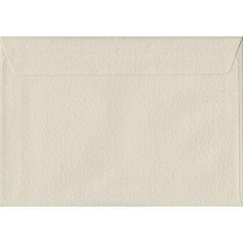 Ivory Hammer Peel/Seal C5/A5 Coloured Ivory Envelopes. 100gsm FSC Sustainable Paper. 162mm x 229mm. Wallet Style Envelope.