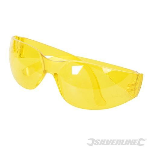 Silverline Safety Glasses Uv Protection Yellow