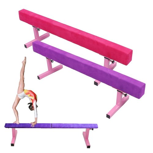 1.8M/6FT High Gymnastics Balance Beam Gym Exercise Sports Training Airtrack Rolls Bar Tools Equipment
