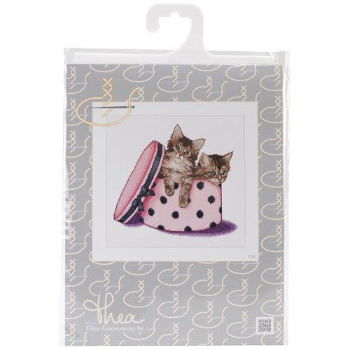 """Kitten Twins On Aida Counted Cross Stitch Kit-12.25""""X11.75"""" 16 Count"""