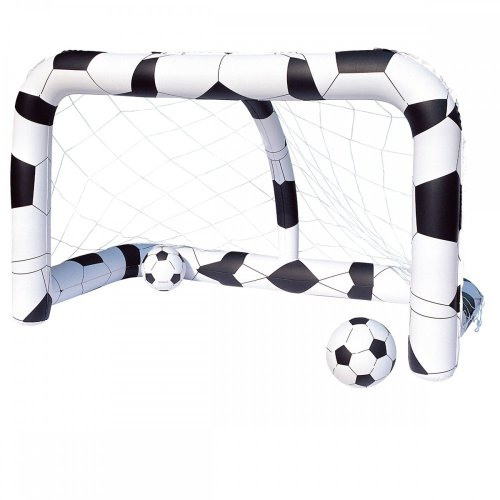 Bestway Inflatable Soccer/Football Net Includes 2 Inflatable Footballs(36cm) & Repair Patch Ages 3 Years+