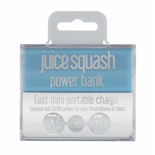 Juice Squash, Fast Charge Portable Powerbank, Aqua. 2,800mAh