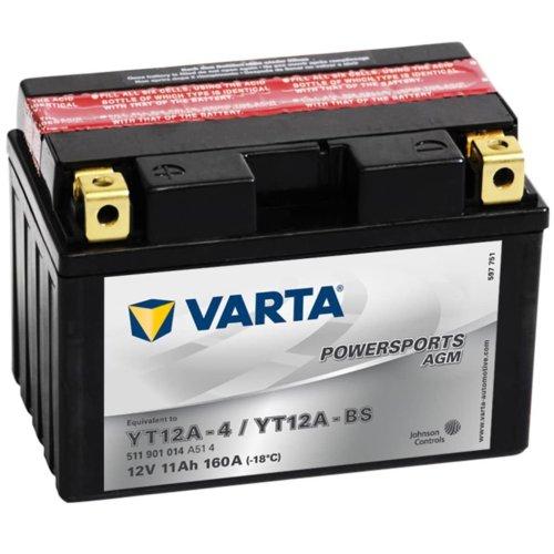 Varta AGM Battery 12 V 11 Ah YT12A-4 / YT12A-BS