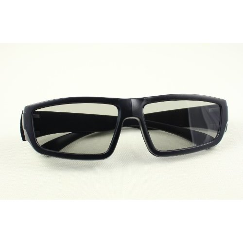 Ultra 1 to 5 Pairs of Black Adults Passive 3D Glasses For Men Women Polorized Eyewear Wraparound Style for All Passive TVs Cinema and Projectors Such as RealdD Toshiba LG Sony Panasonic and More