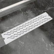 vidaXL Linear Shower Drain Wave 530x140 mm Stainless Steel