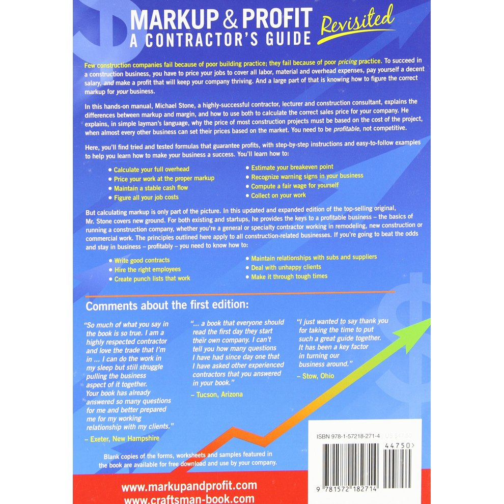 Markup & Profit: A Contractor's Guide, Revisited on OnBuy