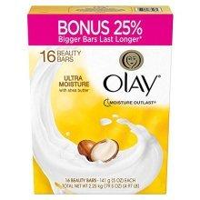Olay Ultra Moisture 165 OZ Bar Soaps, Shea Butter, 90 OZ