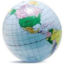 40cm Inflatable Globe Prop - World Map Blow Up Ball Earth Atlas Party Beach -  inflatable globe world map blow up ball 40cm earth atlas party beach