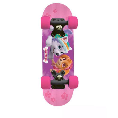 PAW PATROL Kid's 17-Inch Maple Wood Mini Skateboard Cruiser, Black/Pink (OPAW247-F)