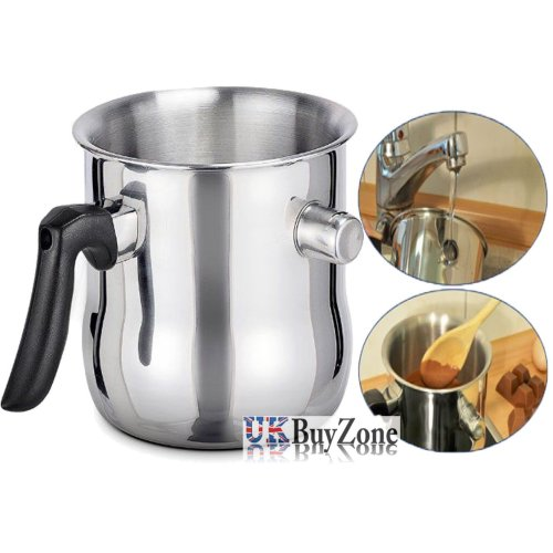 Double-Walled Stainless Steel Whistling Milk Pot