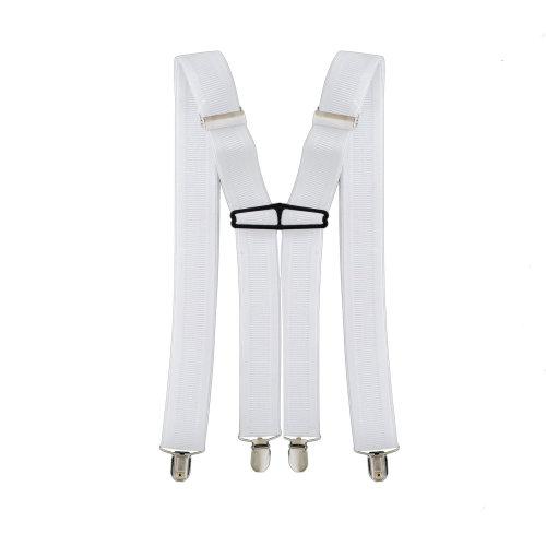 35mm Wide Mens Braces Lycra Spandex Adults Clip On Suspenders Elastic