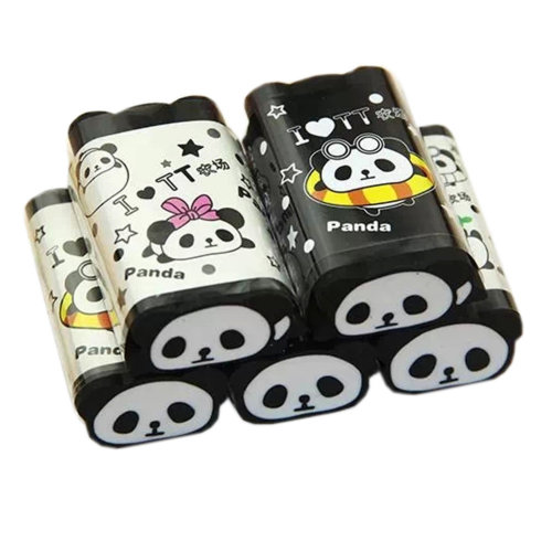 Cute Panda Eraser, Set Of 5, Various Styles