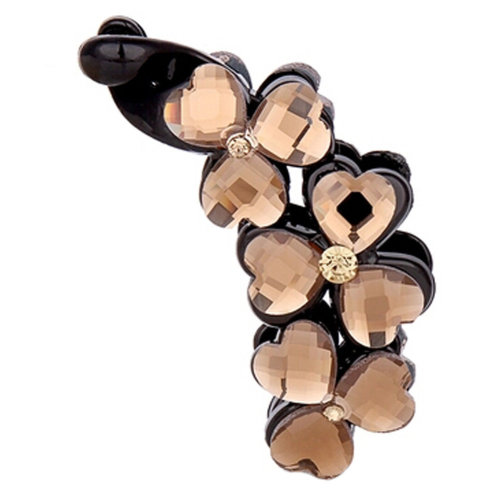 Ladies Beautiful Heart Diamond Hair Clips Claw Clip  Hair Comb Clips, NO.5