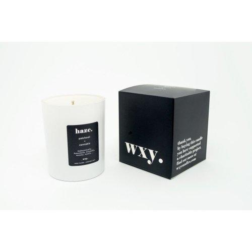 WXY. Classic 7oz Candle HAZE - Patchouli & Cannabis
