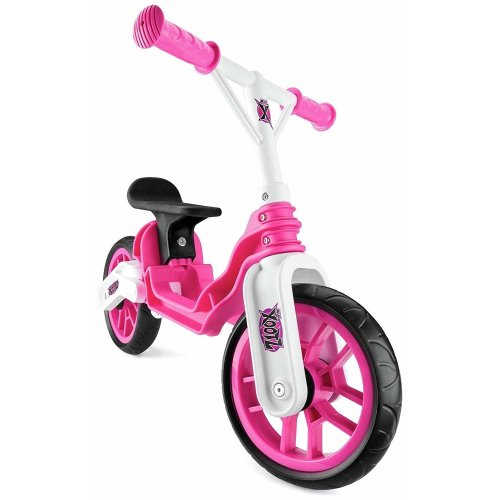 Xootz Toddler Kids Girls Folding Training Balance Bike - Pink