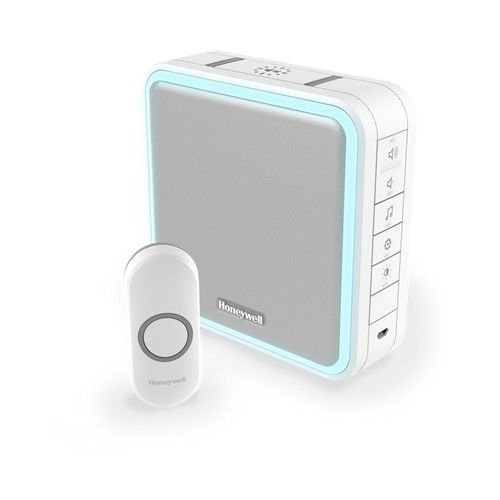 Wireless Portable Doorbell with Range Extender, Sleep Mode and Push Button – White