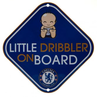 Chelsea FC Little Dribbler Baby On Board Sign