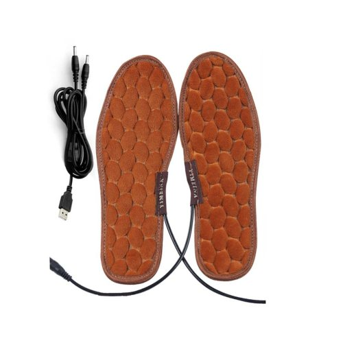 One Pair Heating Shoes Pads USB Electric Heated Pads usb Foot Warmer for Winter 27cm #1