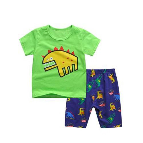 Boys Cartoon Pajamas Cotton Kids Clothes Short Sets Children Sleepwear